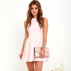 NWT Lulus Light Pink Flare Dress